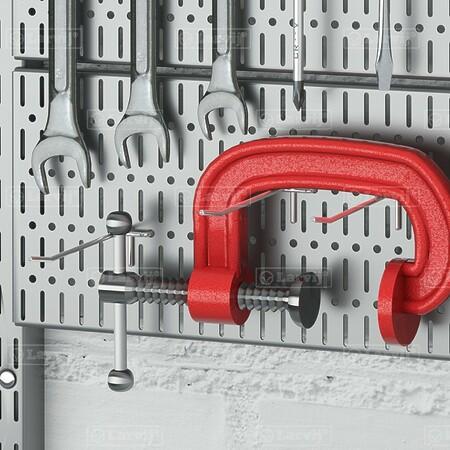 Крючок для перфорированной панели, одинарный (комплект 5 шт.)