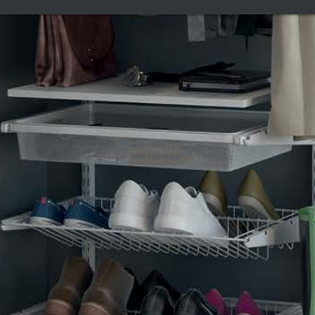 Сеточная полка для обуви двойная